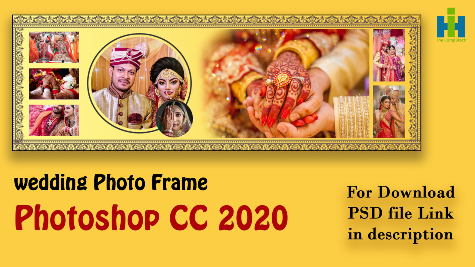 wedding album frame in photoshop cc 2020 tutorial